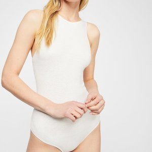 FREE PEOPLE white so it goes bodysuit top